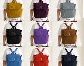 Custom Convertible Backpack / Rucksack / Shoulder Bag / Tote Diaper bag / Canvas bag / School / Unisex / Men Women / 3 Compartments - iHana