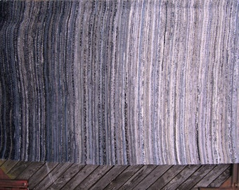 Large Handwoven rag rug - 7' x 5'-custom colour,  MADE TO ORDER