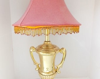 Vintage Beautiful High End Brass Trophy Lamp