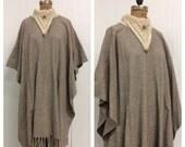 1970s 1980s Wool Cape Coat 70s 80s