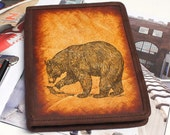 Kindle Leather Cover - Bear - Customizable - Free Personalization