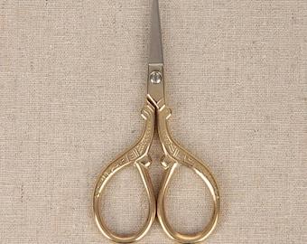 Antique Golden Scissors For DIY Handmade Crafts Zakka Sewing Supplies Stainless Scissors 1 pcs