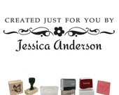 Personalized Custom Stamp - Fancy Created Just For You By PS238