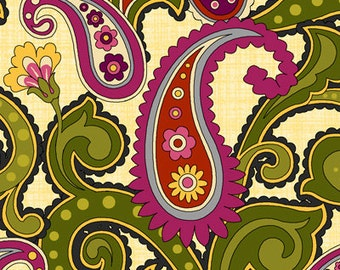 1 Yard of Anthology II Paisley by Color Principle for Henry Glass
