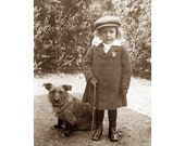 Boy with Dog Greeting Card - Cairn Terrier and Child