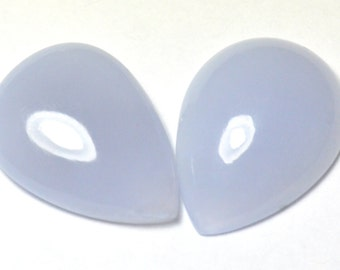 30mm pair blue chalcedony cabochon 74.70ct untreated  Ref: 377951