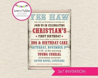 Cowboy Birthday, Cowboy Birthday Invitation, Vintage Cowboy, Cowboy Printables, Cowboy Birthday Decorations, Lauren Haddox Designs