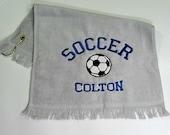 Gray soccer towel