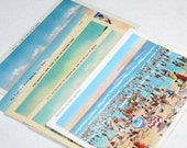 10 Vintage Beach Postcards Blank - Wedding Guestbook