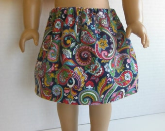 18 inch Doll Clothes fits American Girl - Paisley Corduroy Skirt