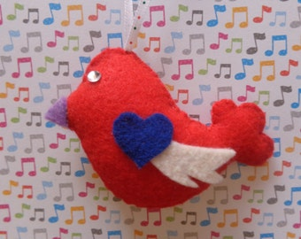 Lullaby Bird Ornament by Pepperland
