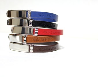 Single Wrap Minimal Leather Bracelet(CALF)