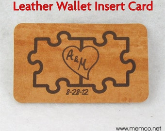 2 Sided Love Note Leather Wallet Note Card - Anniversary Gift for Men or Women