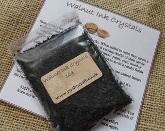 Natural Walnut Ink Crystals for Distressing & Staining - 10g