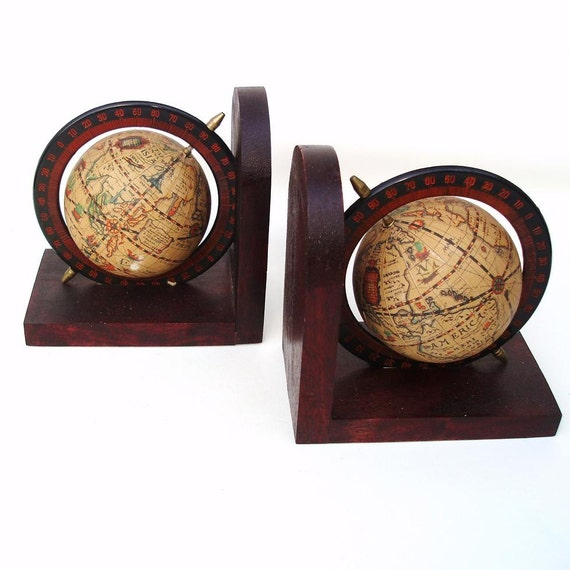 Globe Bookends Old World Globe Book Ends Pair Book By