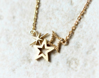 Twinkle star Necklace / choose your color / gold, silver