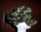Camouflage newsboy cap (large) Clearance
