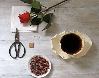 Midnight Rose Black Tea • 6 oz. Kraft Bag • Hand Blended Loose Leaf Tea • Red Rose Petals & Chinese Black Tea