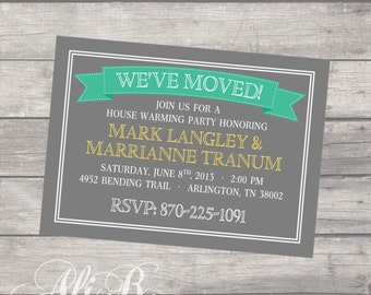 We've Moved Housewarming Invite Printable
