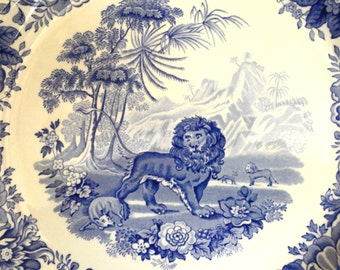 AESOPS FABLES Collector Plate Spode Blue Room Collection