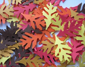 100 Fall Oak Leaf punch die cut embellishments E1532