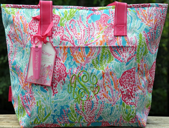 personalized lilly pulitzer insulated cooler by keylimeonline