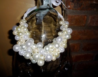 Wrapped bead statement necklace