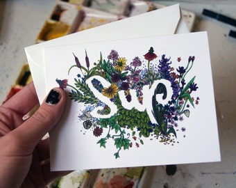 SUP card - casual greeting card