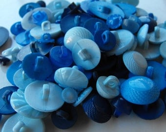 55 Blue Shades Shanked Buttons