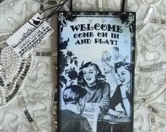 Welcome Dorm Room Dorm Rules Door Hanger Sign Plaque