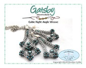 Beading Pattern Cubic Right Angle Weave Pendant and Earrings Tutorial GATSBY