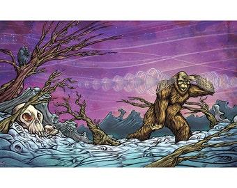 Sasquatch aka Yeti art poster