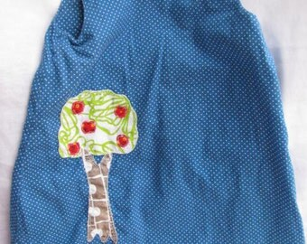 Blue Polka Dot Apple Tree Dress in Size 2T