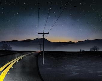Art print: Homeward