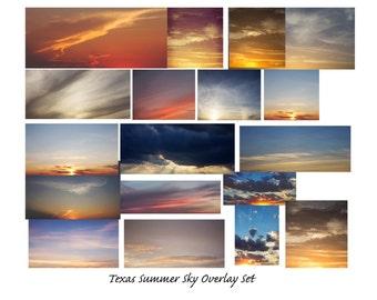 Texas Summer Skies Overlay Set