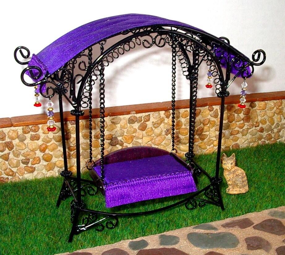 Fairy Garden Swing Dollhouse Miniature 1 12 Scale