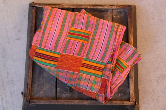 Pink Ashanti Kente Cloth