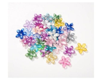 CLEARANCE Multi Color Flower Beads, 150 pcs