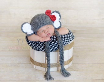 Crochet Alabama Crimson Tide Baby Newborn Hat, Crochet Elephant Hat, Big Al, Boy or Girl, Newborn, Photo Prop, Gameday