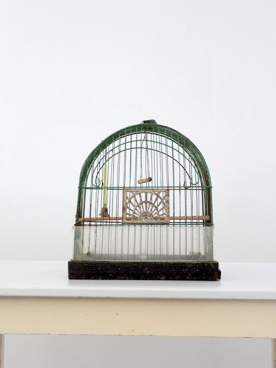 antique bird cage / Crown birdcage