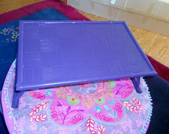 vintage Bright and rustic plum color or purple bed or lap tray