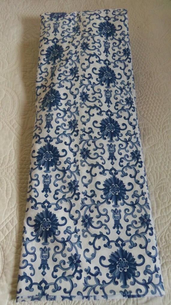 Vintage Ralph Lauren Bedding Porcelain Blue Rosette King