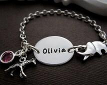 Baby ID Bracelet, Personalized Baby Bracelet, Baby Name Bracelet, Kids ID Bracelet, Baby Jewelry, Baby Christening