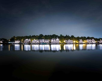 Boathouse Row Philadelphia at Night
