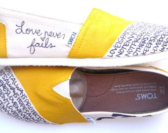 The Nicole - Mustard Yellow and Cream Custom TOMS