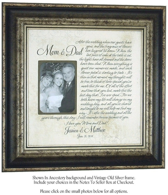 wedding frame decoration sign frame mom dad wedding gifts