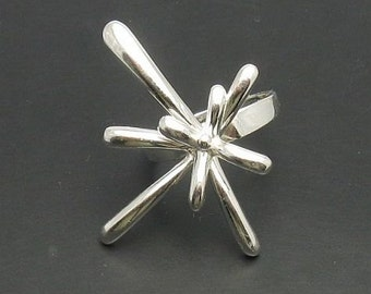 R000560 STERLING SILVER  Ring Solid 925 Flower