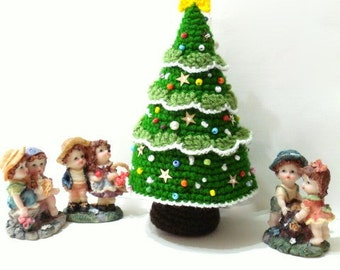 Pattern - Amigurumi Christmas Tree Pattern, Crocheted Tree Pattern, Christmas Gifts, Christmas ornaments, Tutorial