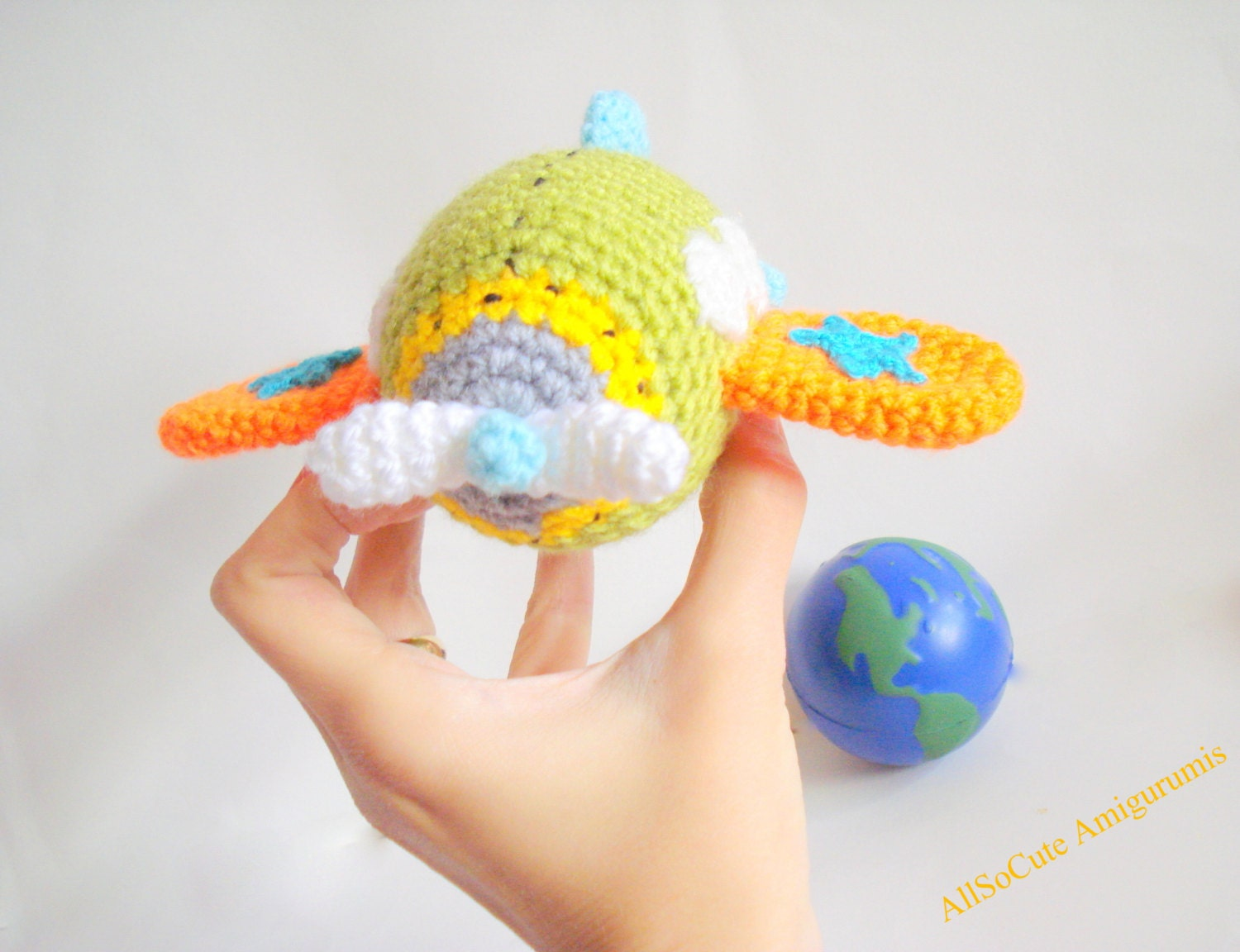 Crocheting Needle On Airplane : PDF Crochet Pattern Airplane Pattern Instant by AllSoCute on Etsy