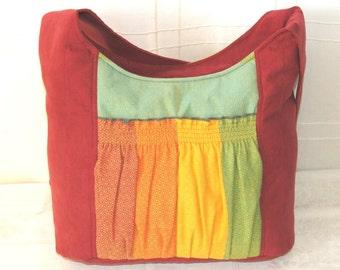 Bag Babywearing Red Tote Bag with Girasol Diamond Gold Rainbow PLUS FREE Layard